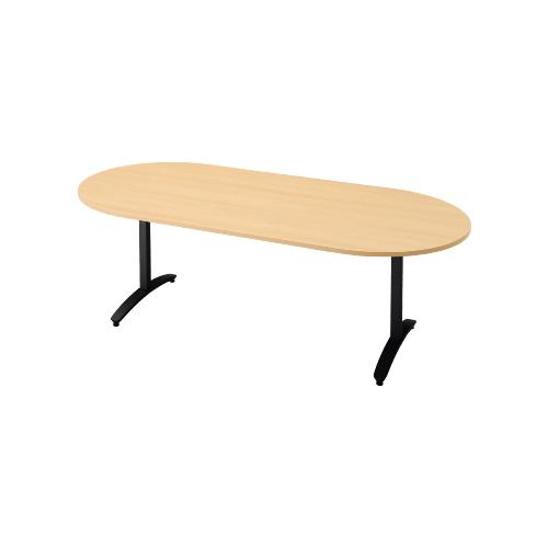 プラス ロンナ(ronna) 標準天板 T字脚 長円形 配線口なし ミーティングテーブル W1800×D900×H720 NN-1809TAO