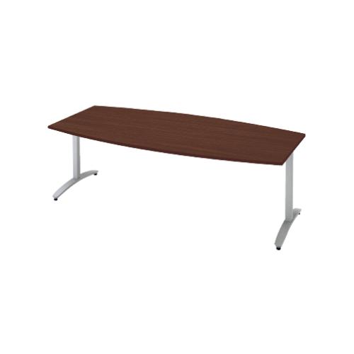プラス ロンナ(ronna) 標準天板 T字脚 ボート形 配線口なし ミーティングテーブル W1800×D900×H720 NN-1809TAB