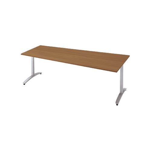 プラス ロンナ(ronna) 標準天板 T字脚 長台形 配線口なし ミーティングテーブル W2100×D1000×H720 NN-2110TAD