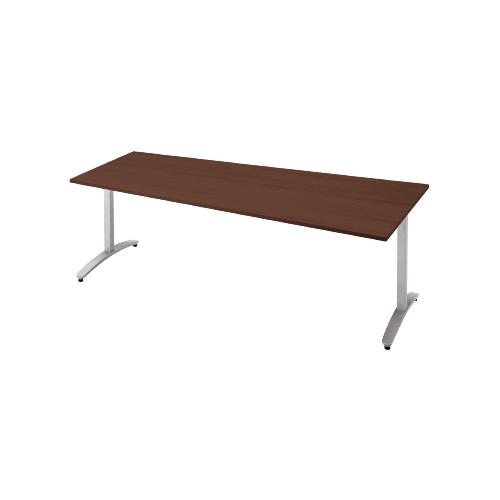 プラス ロンナ(ronna) 標準天板 T字脚 長台形 配線口なし ミーティングテーブル W1800×D900×H720 NN-1809TAD