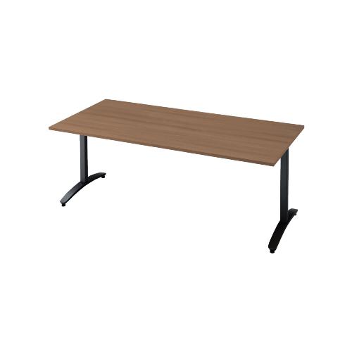 プラス ロンナ(ronna) 標準天板 T字脚 長方形 配線口なし ミーティングテーブル W1800×D900×H720 NN-1809TAR