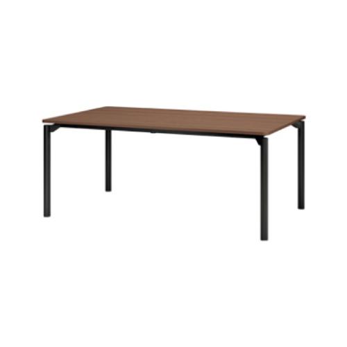 プラス エムゼロテーブル(M0 Table) ミーティングテーブル ブラック脚 W1800×D750×H720 MT-YM1875