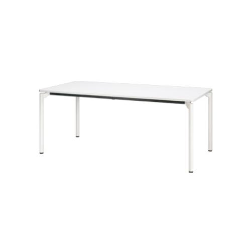 プラス エムゼロテーブル(M0 Table) ミーティングテーブル ホワイト脚 W1500×D750×H720 MT-YM1575