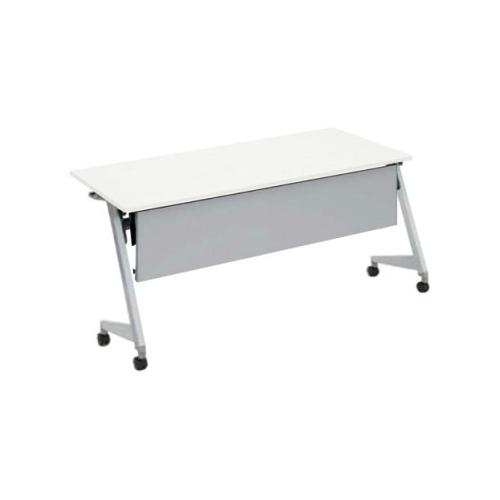 オカムラ フラプターL サイドフォールディングテーブル 棚板なし 幕板付 81F2AA-MG99/81F2AA-MK37