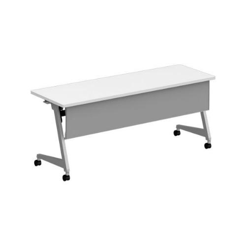 オカムラ フラプターL サイドフォールディングテーブル 棚板なし 幕板付 81F2AB-MG99/81F2AB-MK37