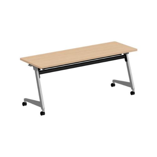 オカムラ フラプターL サイドフォールディングテーブル 棚板付 幕板なし 81F2CY-MG99/81F2CY-MK37