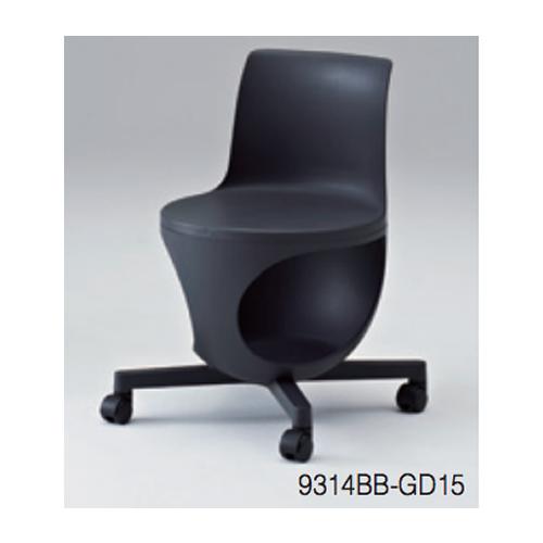岡村製作所 オカムラ ミーティングチェア イーチェア(e-chir) パッドなし テーブルなし 482W×497D×420SH/710H 質量/6.3kg 9314AB/9314BB/  【ナイロンキャスター仕様】