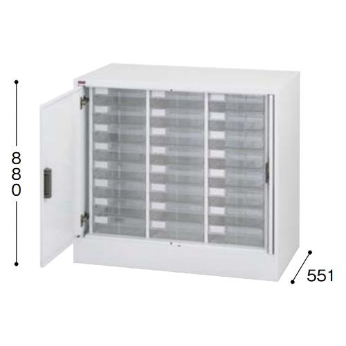 ナイキ パンフレットケース A4タイプ 誘導扉付 深型3列8段 W995×D551×H880mm A4PT-308UN