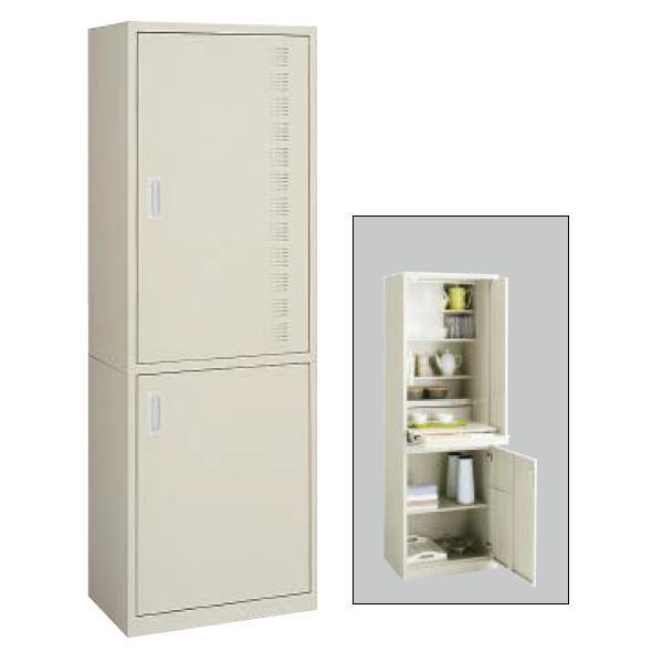 コクヨ KOKUYO ビジネスキッチン スチール食器収納ユニットW600×D450×H1790 BK-20F1N