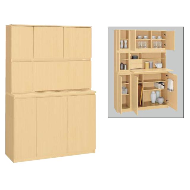 コクヨ KOKUYO ビジネスキッチン 木製食器収納ユニット W1200×D450×H1800 BK-W100F1N3/BK-W100PP2N3