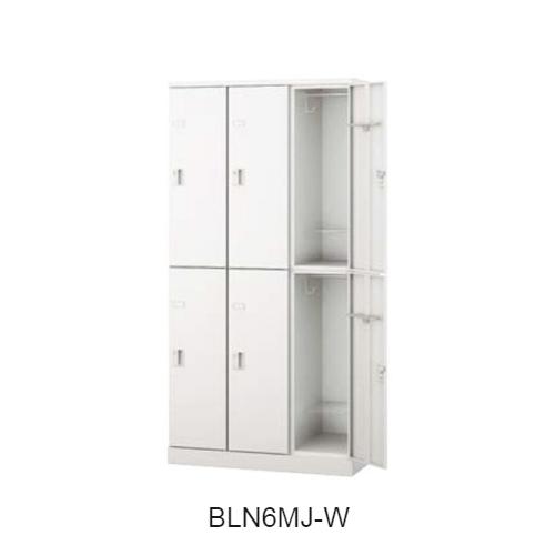 ナイキ BLN型ロッカー 6人用ロッカー 錠付タイプ(アジャスター仕様) W900×D515×H1800 BLN6MJ-AW/BLN6MJ-W