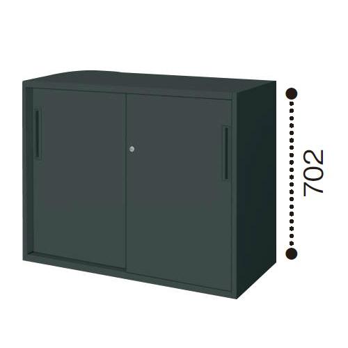 コクヨ エディア ブラックタイプ H700タイプ 2枚引き違い戸 下置き W900×D450×H702 BWU-HD239E6C