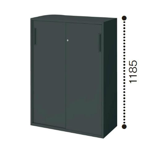 コクヨ エディア ブラックタイプ H1185タイプ 2枚引き違い戸 下置き W900×D450×H1185 BWU-HD269E6C