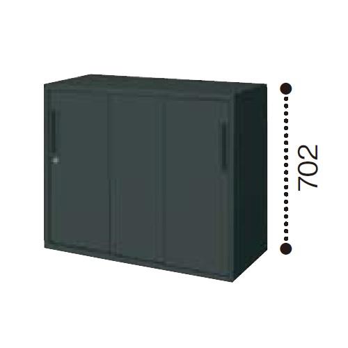 コクヨ エディア ブラックタイプ H700タイプ 3枚引き違い戸 下置き W900×D450×H702 BWU-HD339E6C