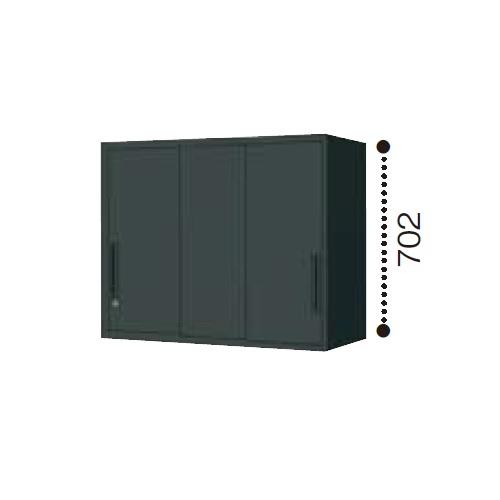 コクヨ エディア ブラックタイプ H700タイプ 3枚引き違い戸 上置き W900×D450×H702 BWU-HU339E6C