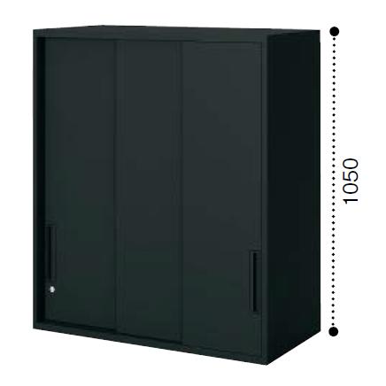 コクヨ KOKUYO エディア〈ブラックタイプ〉H1050タイプ 3枚引き違い戸 上置き  W900×D450×H1050 BWU-HU359F6
