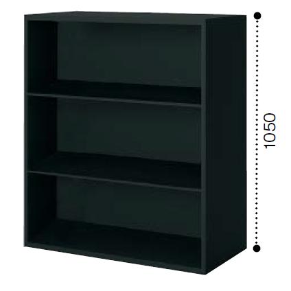 コクヨ エディア〈ブラックタイプ〉H1050タイプ オープン 上/下置き共用 ベース必要 W900×D450×H1050 BWU-K59F6
