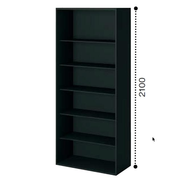 コクヨ エディア〈ブラックタイプ〉H2100タイプ オープンタイプ 下置き ベース必要 W900×D450×H2100 BWU-K89F6
