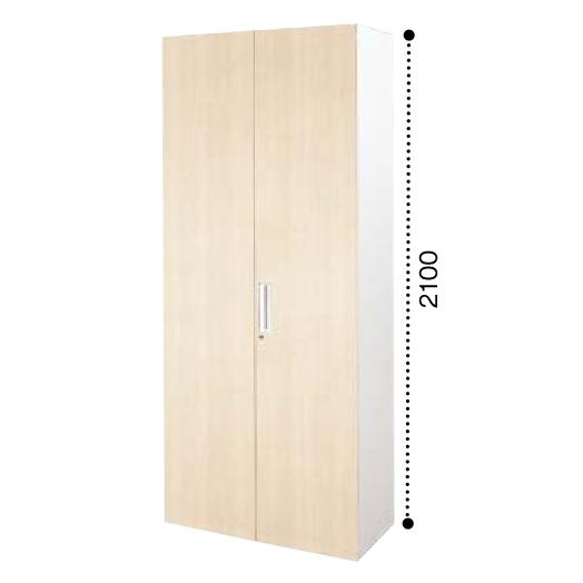 コクヨ エディア EDIA 両開き扉 下置き書庫 ベース必要 木目タイプ 本体色ホワイト 扉色ホワイトナチュラル BWU-S88SSAWD10