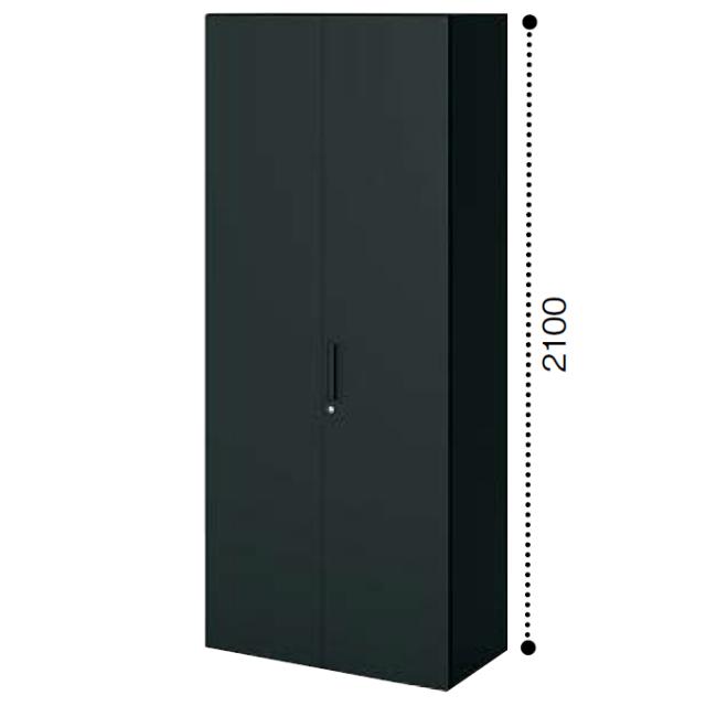 コクヨ エディア〈ブラックタイプ〉H2100タイプ 両開き扉タイプ 下置き ベース必要 W900×D450×H2100 BWU-S89F6