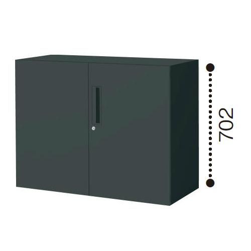 コクヨ エディア ブラックタイプ H700タイプ 両開き扉 下置き W900×D450×H702 BWU-SD39E6C