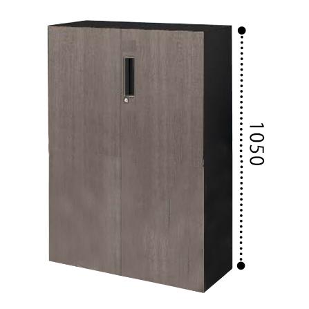 コクヨ エディア EDIA 両開き扉 下置き 木目タイプ 本体色ブラック BWU-SD59E6CDP2/BWU-SD59E6CDG5