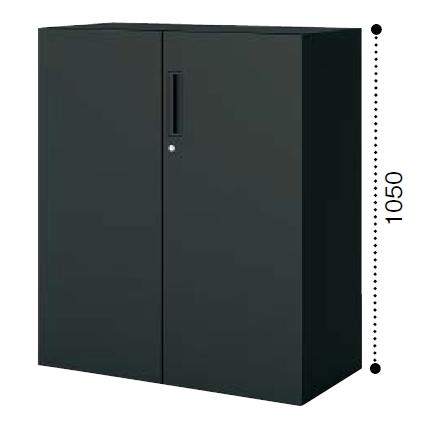 コクヨ エディア〈ブラックタイプ〉H1050タイプ 両開き扉 下置き ベース必要 W900×D450×H1050 BWU-SD59F6