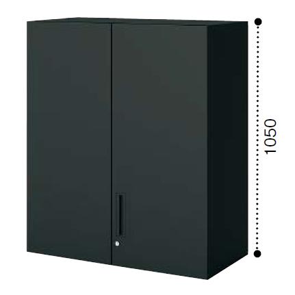 コクヨ エディア〈ブラックタイプ〉H1050タイプ 両開き扉 上置き W900×D450×H1050 BWU-SU59F6