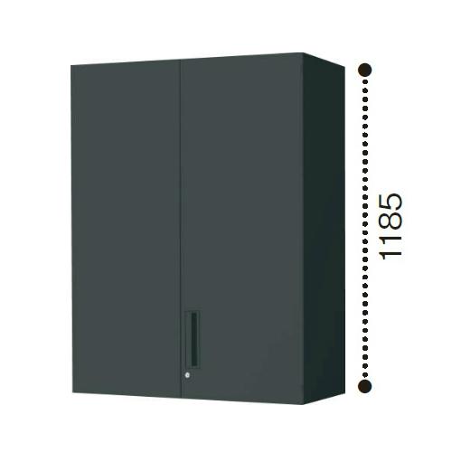 コクヨ エディア ブラックタイプ H1185タイプ 両開き扉 上置き W900×D450×H1185 BWU-SU69E6C