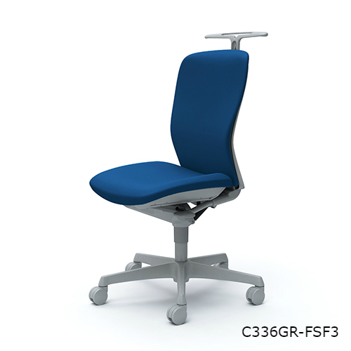スラート ハイバック 肘なし ハンガー付 樹脂脚  C336WR-FS/C336ZR-FS/C336GR-FS/C336XR-FS/C336JR-FS/C336CR-FS