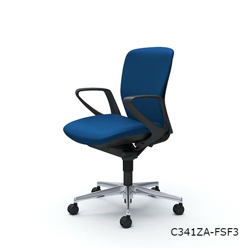 オカムラ スラートチェア(sulato) ローバック デザインアーム アルミ脚 ナイロンキャスター  C341WA-FS/C341ZA-FS/C341GA-FS