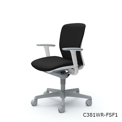 オカムラ スラートチェア ローバック アジャストアーム C381WR-FS/C381ZR-FS/C381GR-FS/C381XR-FS/C381JR-FS/C381CR-FS