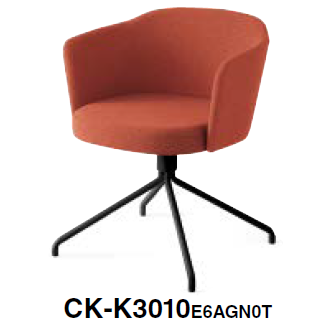 コクヨ KOKUYO ミーティングチェア COODE コーデチェア 張りぐるみタイプ 塗装固定脚(背座回転) 背座同色 クッションなし CK-K3010SAA/E6A