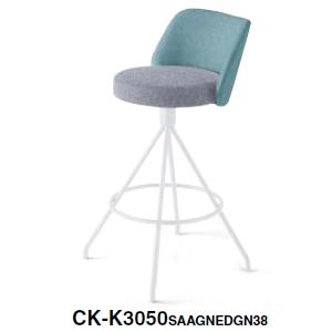 コクヨ KOKUYO ミーティングチェア COODE コーデチェア ハイチェア 塗装固定脚(背座回転) 背座別色  CK-K3050SAA/E6A