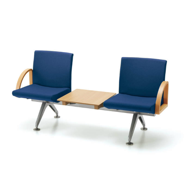 コクヨ コレッティ2 ロビーチェア 2人用テーブル付アームチェア W1650D590H805 CN-4203ATK4/CN-4203ATVZ