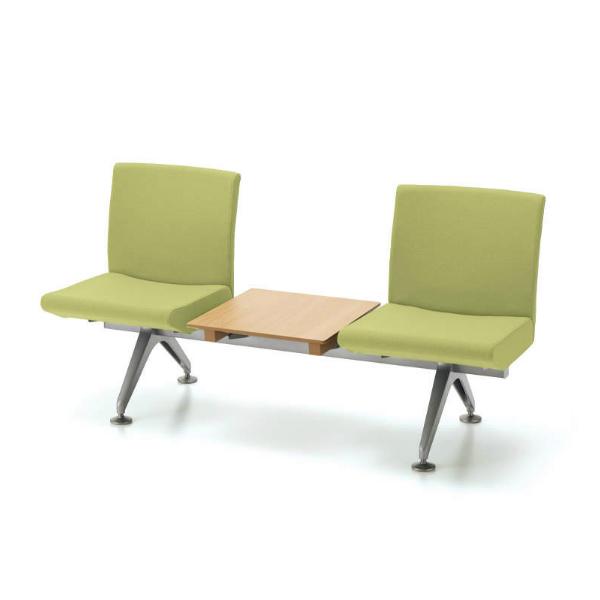 コクヨ コレッティ2 ロビーチェア 2人用テーブル付アームレスチェア W1560D590H805 CN-4203TK4/CN-4203TVZ