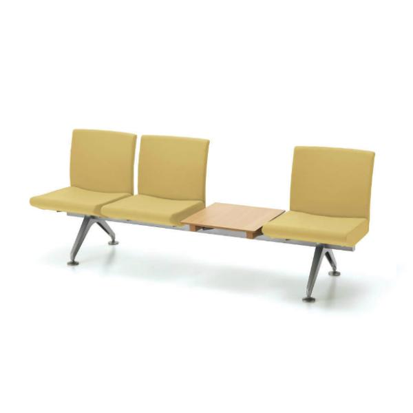 コクヨ コレッティ2 ロビーチェア 3人用テーブル付アームレスチェア W2095D590H805 CN-4204TK4/CN-4204TVZ