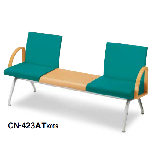 コクヨ KOKUYO ロビーチェアー コレッティ CORETTY 2人用テーブル付きアームチェアーW1660×D620×H770 CN-423AT