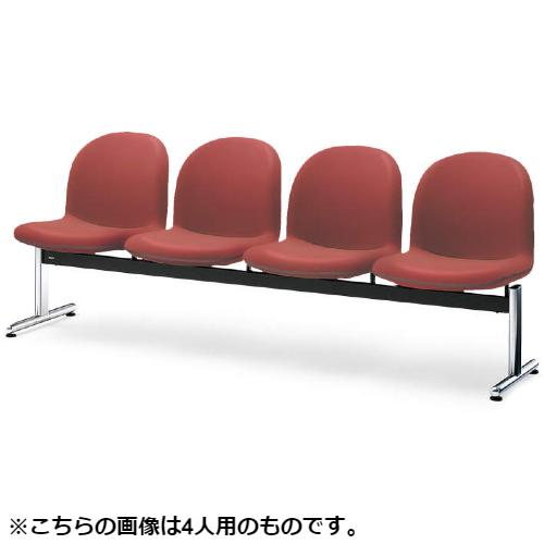 コクヨ ロビーチェアー パーム430シリーズ T字脚 背付 3人用 ポリウレタン系レザー張り W1515×D620×H775 CN-433