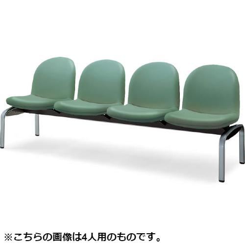 コクヨ ロビーチェアー パーム430シリーズ 4本脚 背付 3人用 ポリウレタン系レザー張り W1530×D620×H775 CN-438