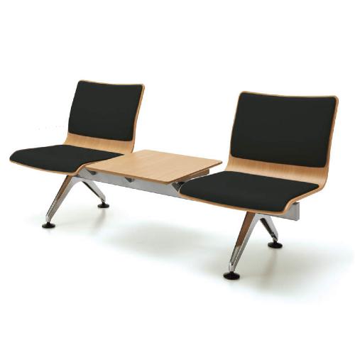 コクヨ 7700シリーズ ロビーチェアー 2人用テーブル付 エコPVCレザー張り W1690×D648×H785 CN-7703TVZ