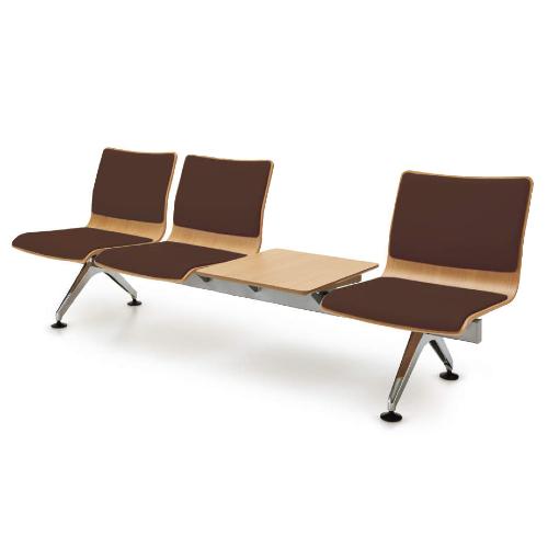 コクヨ 7700シリーズ ロビーチェアー 3人用テーブル付 布張 W2270×D648×H785 CN-7704THC