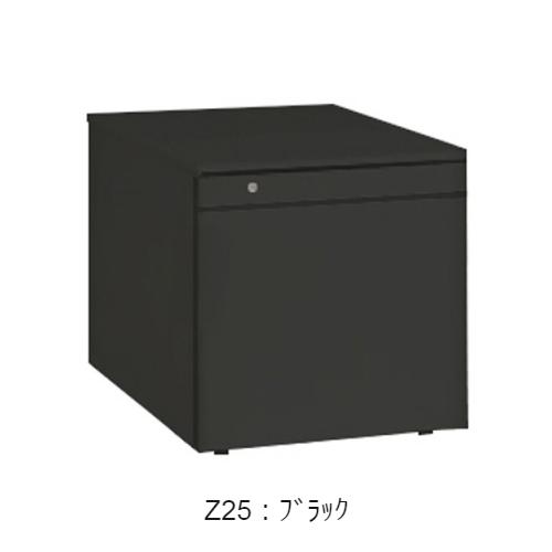 オカムラ ワゴン サイド把手タイプ 1段+ペントレータイプ シリンダー錠 W390×D580×H400 DN31BZ-Z
