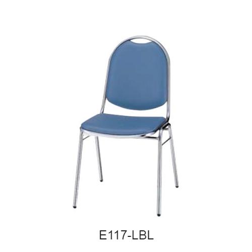 ナイキ ミーティングチェアー 会議用チェアー 4本脚タイプ ビニールレザー張り E117