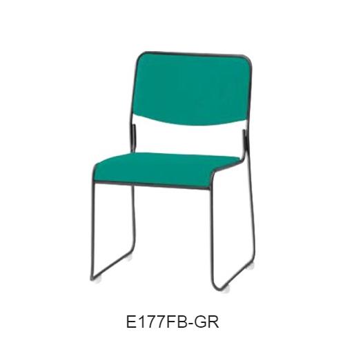 ナイキ ミーティングチェアー 会議用チェアー ループ脚タイプ・塗装タイプ 布張り E177FB