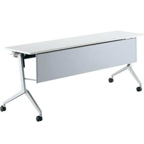コクヨ ミーティングテーブル リーフライン(Leafline) フラップテーブル パネル付きタイプ 棚なし W1800×D450×H720mm KT-P1200