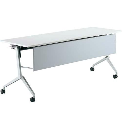 コクヨ ミーティングテーブル リーフライン(Leafline) フラップテーブル パネル付きタイプ 棚なし W1800×D600×H720mm KT-P1201