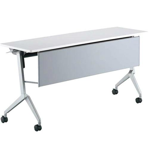 コクヨ ミーティングテーブル リーフライン(Leafline) フラップテーブル パネル付きタイプ 棚なし W1500×D450×H720mm KT-P1202
