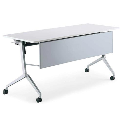 コクヨ ミーティングテーブル リーフライン(Leafline) フラップテーブル パネル付きタイプ 棚なし W1500×D600×H720mm KT-P1203