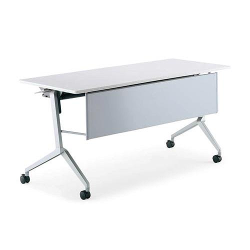 コクヨ ミーティングテーブル リーフライン(Leafline) フラップテーブル パネル付きタイプ 棚なし W1200×D450×H720mm KT-P1204